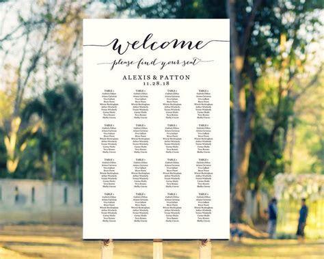 Wedding Seating Chart, Wedding Seating Chart Template