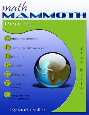 Math Mammoth Percent math book cover