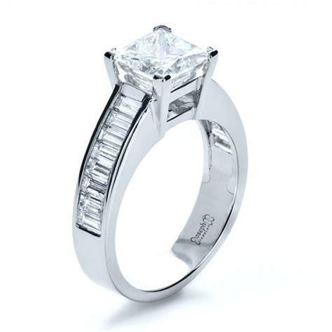 Baguette Diamond Engagement Ring #1150   Seattle Bellevue