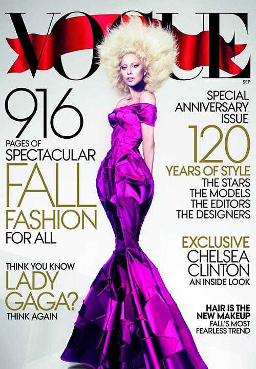 Vogue magazine - September 2012, Lady GaGa