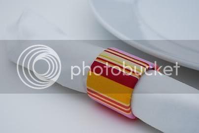 Napkin Rings of Cardboard Tubes