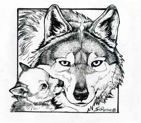 Realistic Wolves Drawing at GetDrawings | Free download