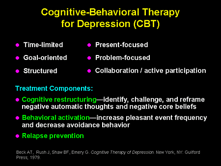 Cognitive Behavioral Therapy For Depression   Party ...