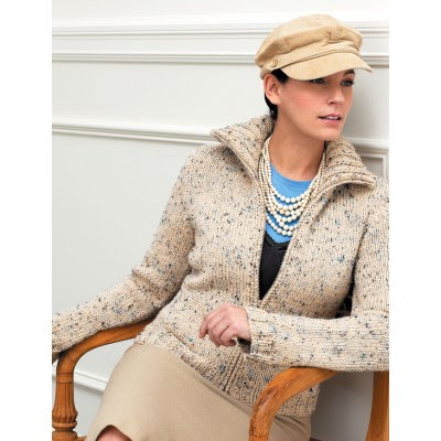Zip Front Cardigan With Flared Sleeves