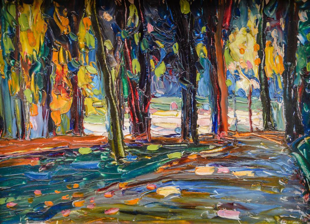 Painting: Wassily Kandinsky, Park of St. Cloud - Autumn, 1906 Lenbachhaus Art Gallery, Munich, Germany