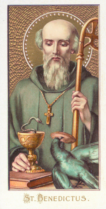 Image result for saint benedict and raven