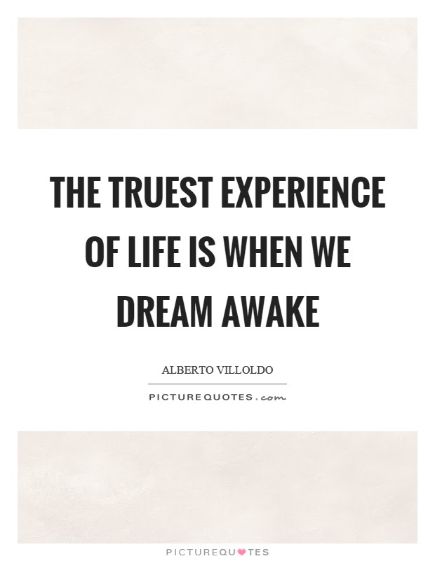 The Truest Experience Of Life Is When We Dream Awake Picture Quotes