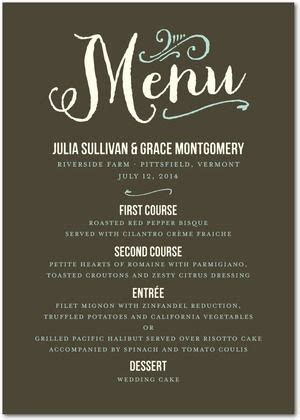 Have a menu standing up on each table at the rehearsal