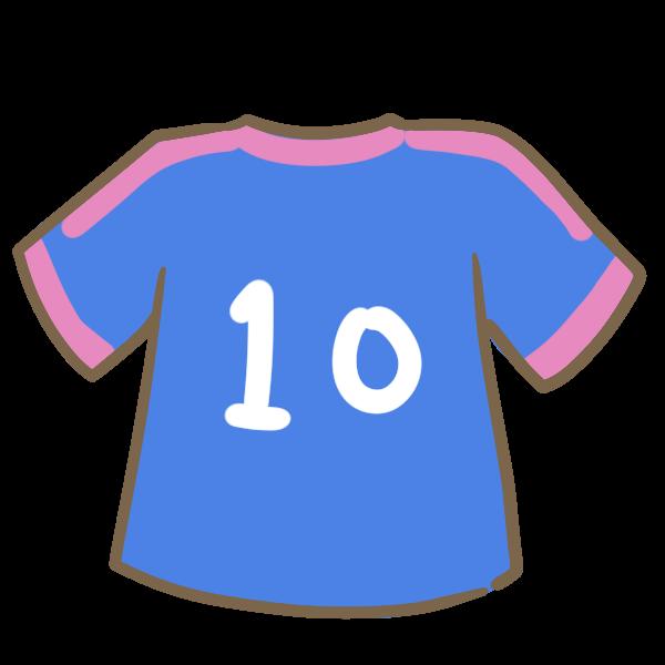 サッカーのユニフォーム青のイラスト かわいいフリー素材が無料の