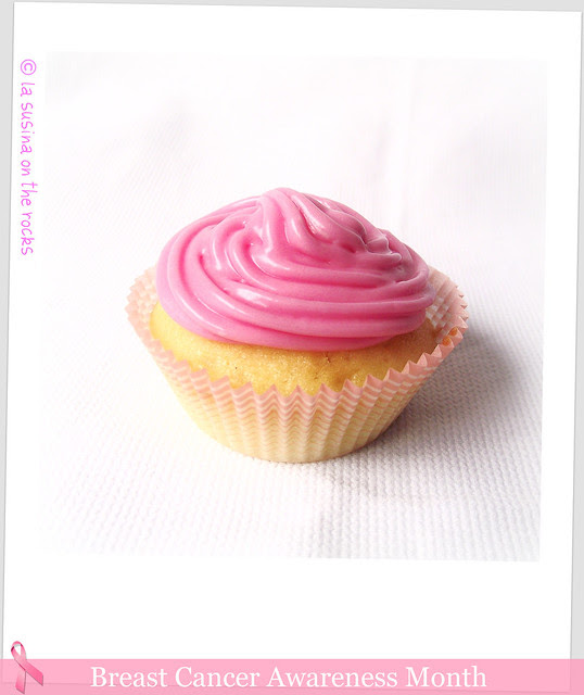 cupcake in a pink frosting dress