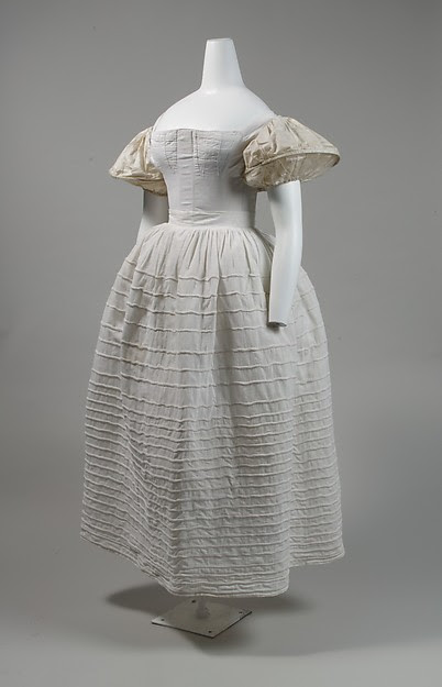 1830s Corded petticoat from The Met.