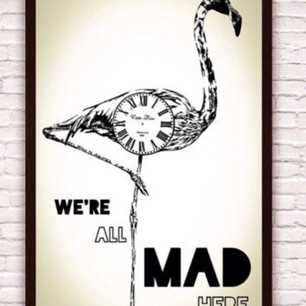 Alice In Wonderland Flamingo Frame Poster Wheretoget