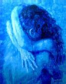 """Bruno Steinbach. """"Transcendência dos Sentidos - Estágio Alfa"""". Acrílica/cartão, 95 x 75 cm, 1998, Mossoró, Rio Grande do Norte, Brasil. Acervo do Artista. Catálogo 81."""