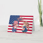 Celebrate American Flag card