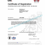 Globe maintains ISO standards for higher level efficiency in safeguarding customers