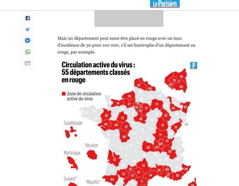 Frankreich Corona Inzidenz Karte - Immer mehr Regionen mit ...