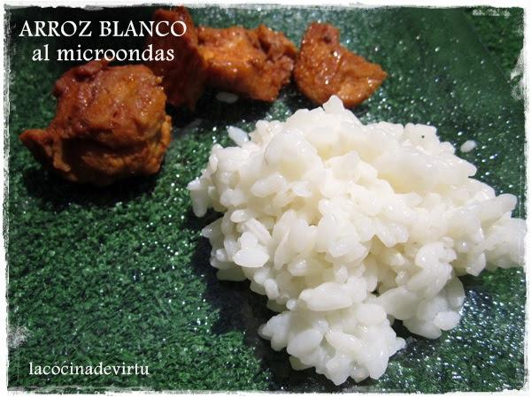 arroz blanco al microondas