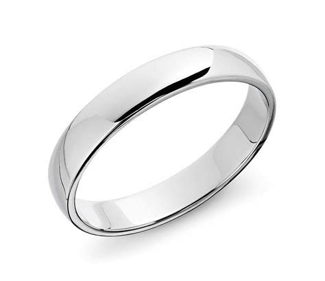 Classic Wedding Ring in 14k White Gold (4mm)   Blue Nile