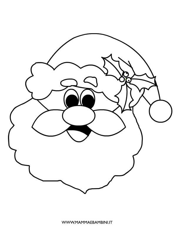 Faccia Di Babbo Natale Da Colorare Mamma E Bambini