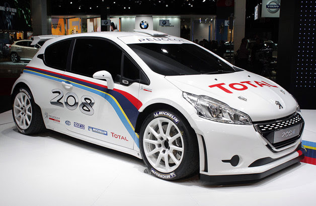 Peugeot 208 Type R5 rally car - live at 2012 Paris Motor Show reveal
