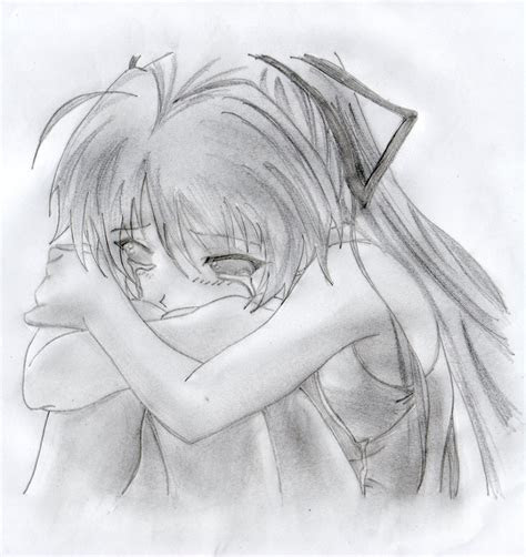 sketch girl crying  paintingvalleycom explore