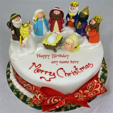 merry christmas santa claus xmas birthday cakes with name edit