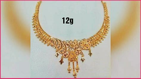 LightWeight Gold Necklace with Weight   Latest Jewellery