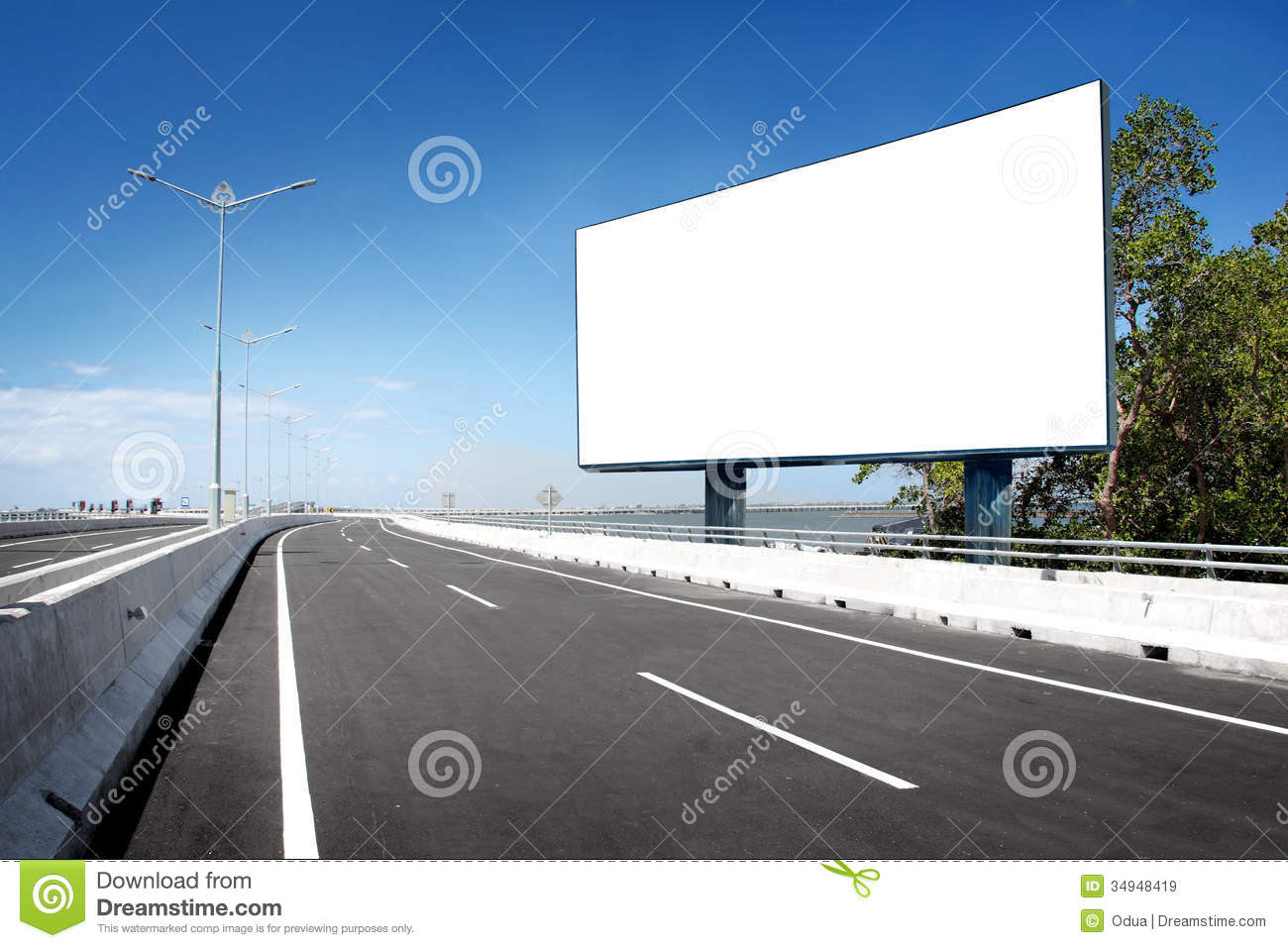 Blank Billboard Or Road Sign Royalty Free Stock Images - Image ...