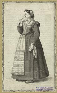 [Italian woman sniffing a flow... Digital ID: 811039. New York Public Library