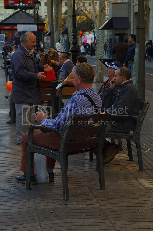 People Sitting on Ramblas Chairs