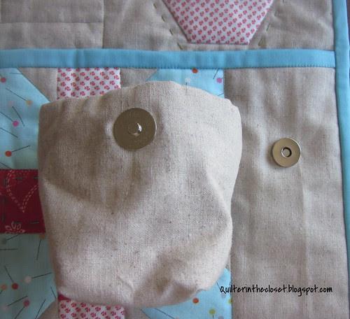 Sewing mat thread bag magnets