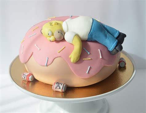 Homer Simpson Cake homemade in Geneva   Petra Cakes