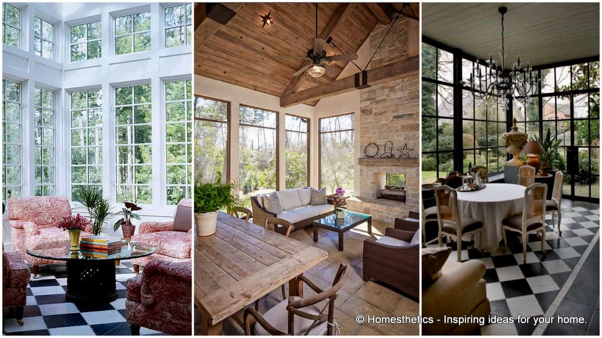 To inspire you, ponder on these 19 ways to design the interior of a sun-room/conservatory.