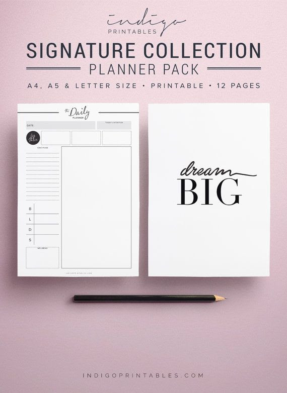 Modern Planner Pages, Modern Planner Pack, Planner Inserts ...