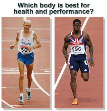 lower body fat percentage athlete