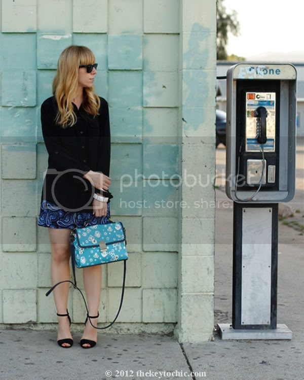 pajama trend, paisley shorts, Jason Wu for Target floral bag, Zara ankle strap heels, southern California fashion blog