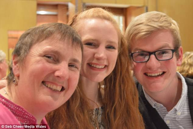 Mr Cheer, pictured with his mother Brenda and sister Alice, hopes speaking out about his experience will help more young people to realise there are others like them