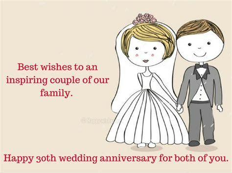 Happy 30th Wedding Anniversary Wishes   Quotes & Messages