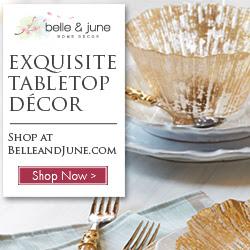 ree Shipping on Luxurious Tabletop Decor | Shop www.belleandjune.com