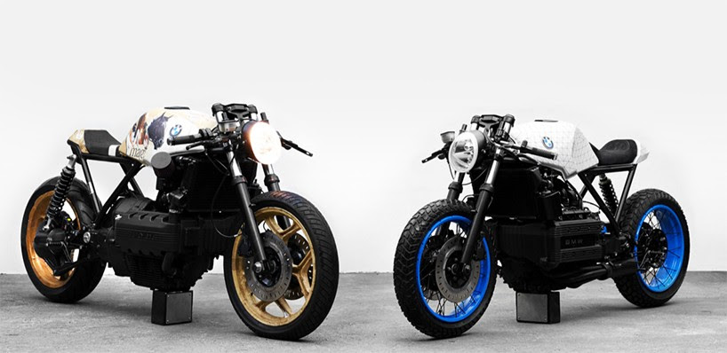 impuls motorcycles asks pair of munich artists to reinterpret custom BMW K100