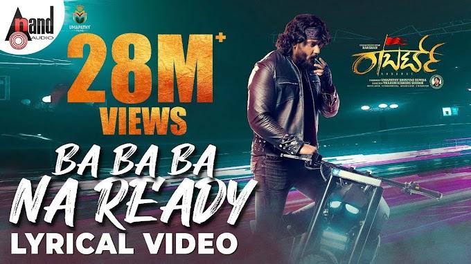 Ba Ba Ba Na Ready lyrics - Robert movie song lyrics - Darshan movie lyrics