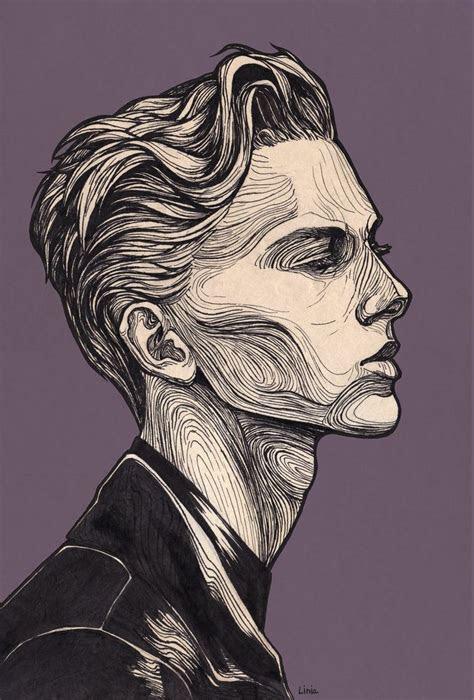 sad boy drawings    profile drawing ideas