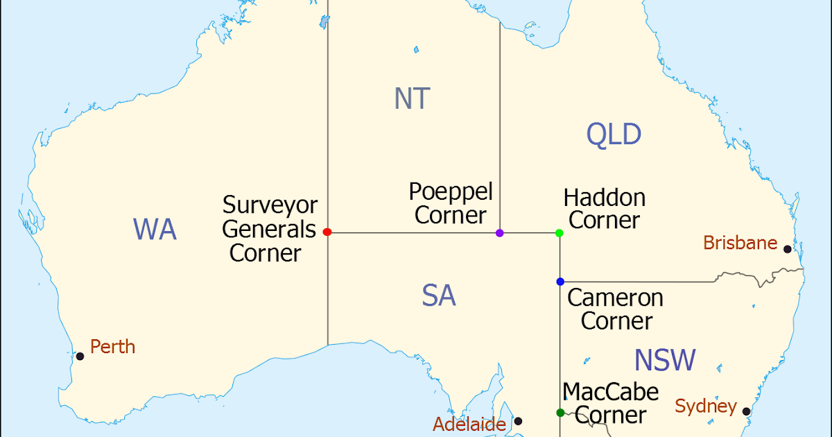Map Of Qld And Nsw