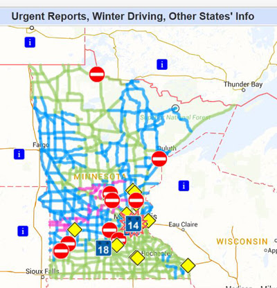 Winter Road Conditions Wisconsin Map World Map