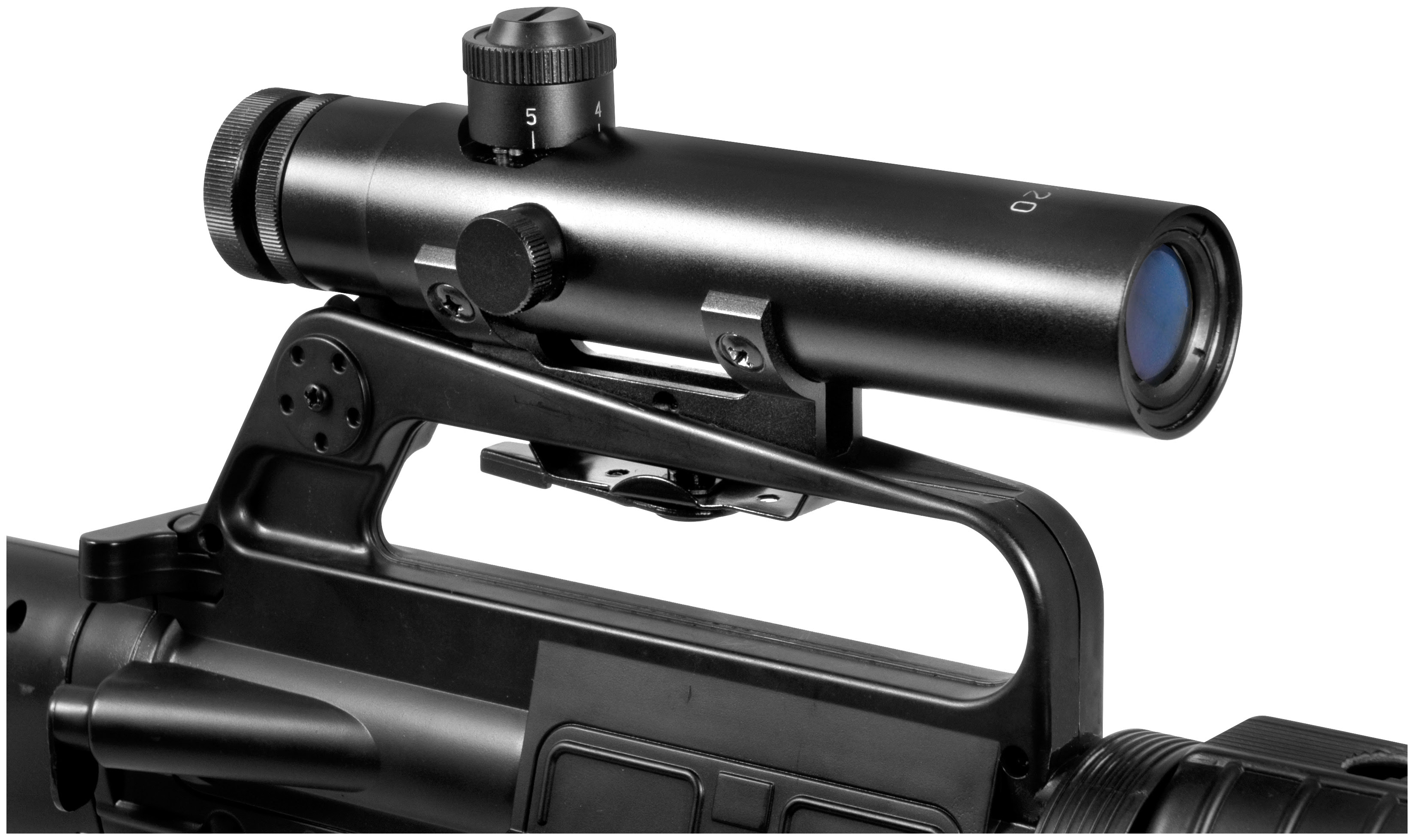 Barska 4x20 mm M16 Electro Sight Scope, Matte Black