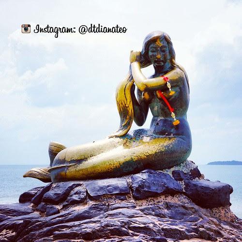 The Golden Mermaid Statue Songkhla