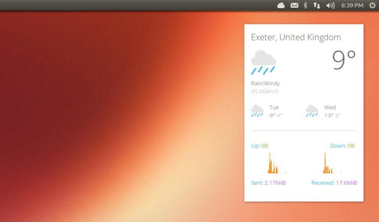 Google Now Conky Theme on Ubuntu 13.10