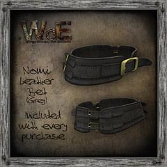 Nomi Leather Belt (Grey)