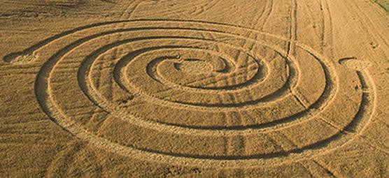 Crop circle en Navarra, España