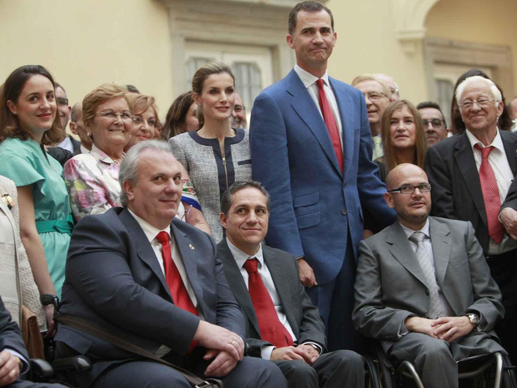 Los reyes en su segundo acto oficial como monarcas, en junio de 2014 en El Pardo.